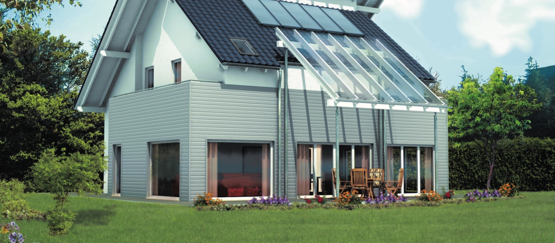 Solar, hme automation, hot water, heating, house