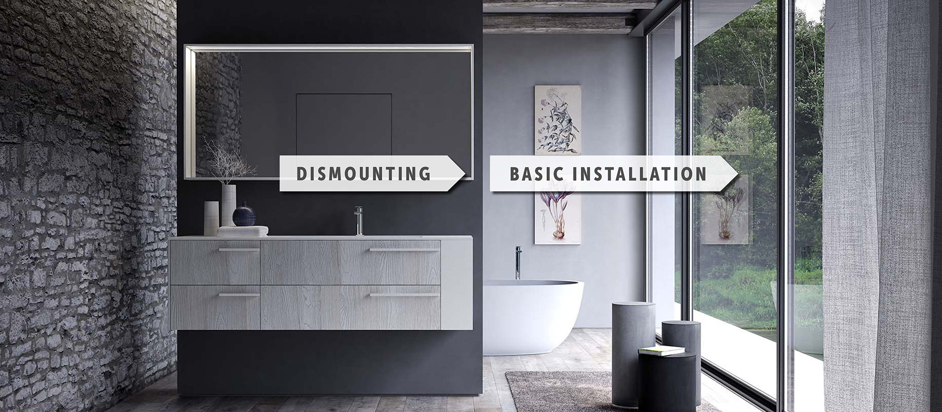 Dismounting, Basic Installation